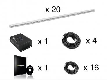 Eurolite Set 20x LED Pixel Pole 100cm + LED PSU-4A + MADRIX KEY