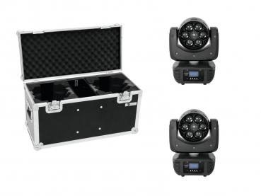 Eurolite Set 2x LED TMH FE-600 Beam/Flowereffekt + Case