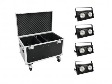 Eurolite Set 4x Audience Blinder 2x100W LED COB + Case