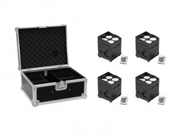 Eurolite Set 4x AKKU UP-4 QCL Spot QuickDMX + Case