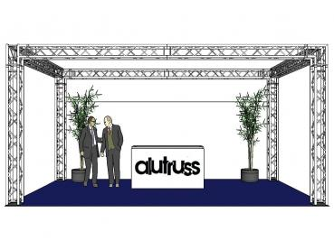 Alutruss Traversenset QUADLOCK 6082 Rechteck 7x4x3.5m (BxTxH)