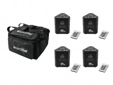 Eurolite Set 4x AKKU TL-3 QuickDMX + Soft-Bag