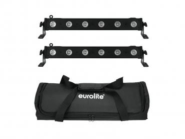 Eurolite Set 2x LED BAR-6 QCL RGBW + Soft Bag