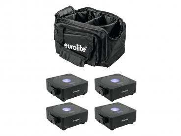 Eurolite Set 4x AKKU Flat Light 1 schwarz + Soft-Bag