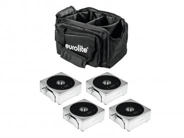 Eurolite Set 4x AKKU Flat Light 1 chrom + Soft-Bag