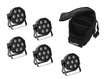 Eurolite Set 5x LED SLS-7 HCL Spot + Soft Bag