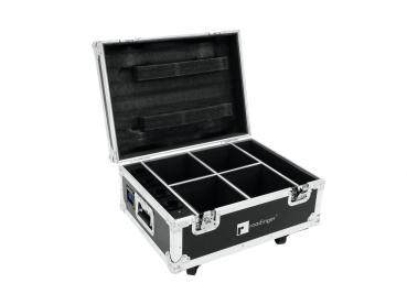Eurolite Set 4x AKKU UP-4 QCL Spot QuickDMX + Case mit Ladefunkt