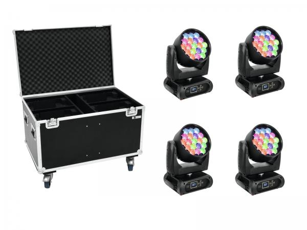 Eurolite Set 4x EYE-19 + Case