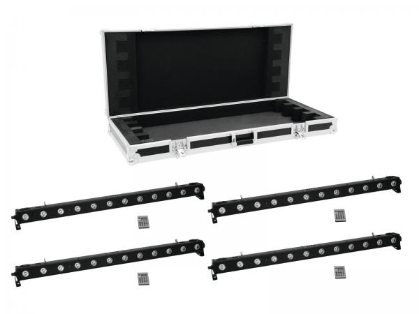 Eurolite Set 4x LED BAR-1250 RGB+UV + EC Case