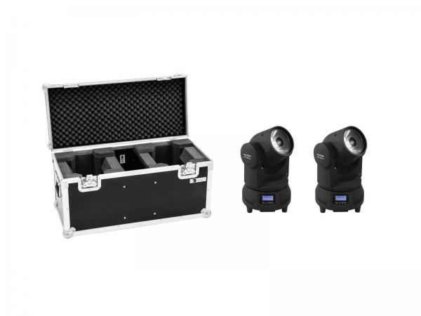 Eurolite Set 2x LED TMH-X1 Moving-Head Beam + Case