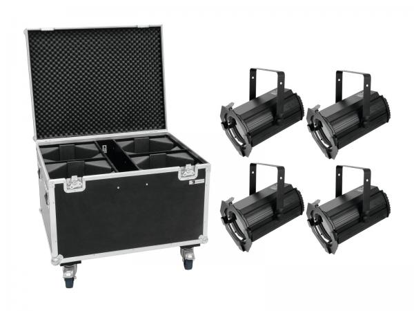 Eurolite Set 4x LED THA-100F MK2 Theater-Spot + Case