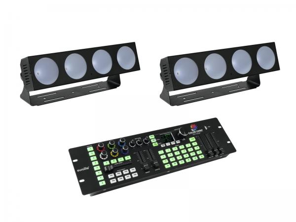 Eurolite Set 2x LED CBB-4 + DMX LED Color Chief Controller