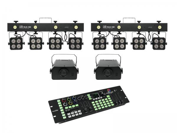 Eurolite Set 2x LED KLS-180 + 2x LED WF-40 + DMX LED Color Chief
