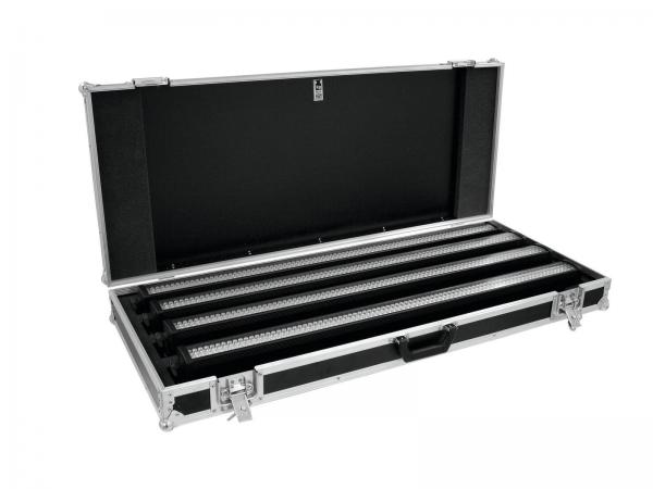 Eurolite Set 4x LED BAR-252 RGB 10mm 20° schwarz + Case